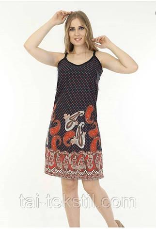 Женский сарафан узкая бретель качество хлопок 100% Турция т.м LUSY M-L-XL (46,48,50р), фото 2