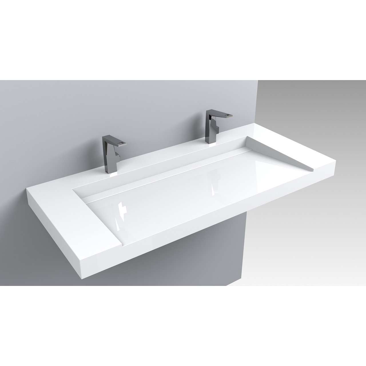 Раковина для ванной подвесная Miraggio Olmos 1200 (глянец/ 1201*529*140 мм)
