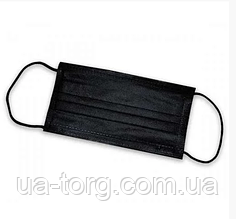Маска защитная для лица ЧЕРНАЯ (Упаковка 30 штук)