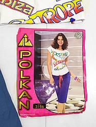 Комплект летние женской домашней одежды,  (футболка короткий рукав+бриджи),  Polkan (размер M/L)