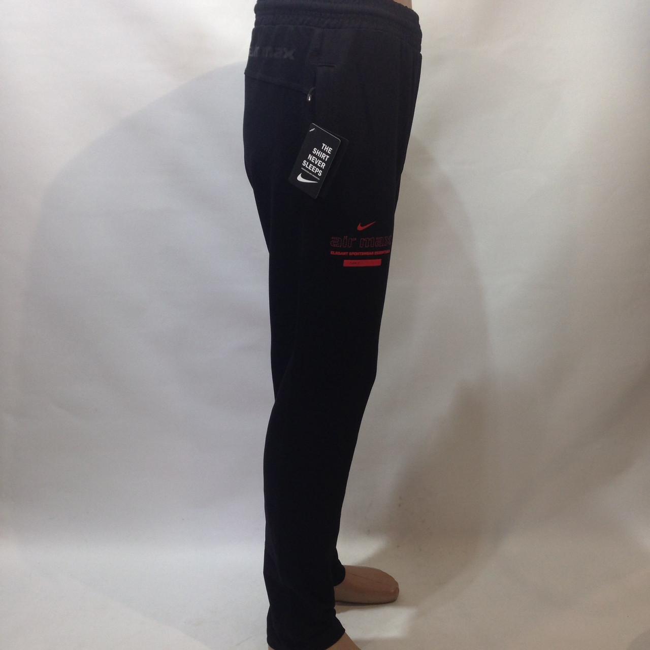 М, ХЛ р. Штаны мужские прямые черные в стиле Nike отличного качества