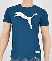 Чоловіча футболка Puma(репліка) Морський, фото 1