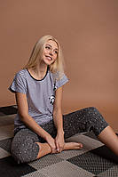 Пижама женская с  капри   Nicoletta 26003