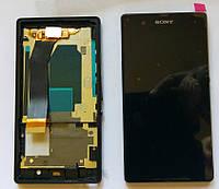 Sony Xperia Z c6603 L36h дисплей в зборі з тачскріном модуль з рамкою чорний