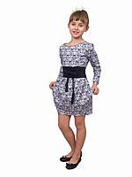 """Стильное платье для девочки М-1022 коттон х\б рост 134 140 146 152 164 и 170 тм """"Попелюшка"""""""