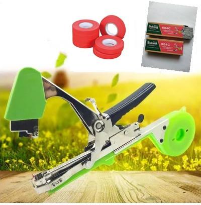 Набор для подвязки винограда и кустарников: степлер SUJINENG, лента 20 катушек, скобы 10000 штук