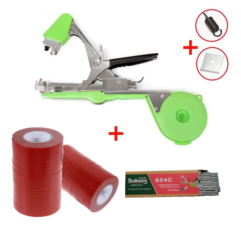 Степлер для подвязки (тапенер) TAPETOOL - МАКСИМАЛЬНЫЙ КОМПЛЕКТ (скобы+лента+нож+пружина)