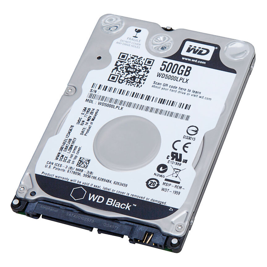 "Накопитель HDD 2.5"" 500 Gb SATA-III Western Digital Scorpio Black WD5000LPLX 32MB 7200rpm для ноутбука"