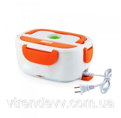 Ланч бокс с подогревом Electric Lunch Box 220V оранжевый