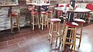 Барный стул с круглою крышкой (бук)  (80*30*30см), фото 7