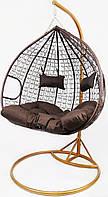 Підвісне крісло-гойдалка кокон B-183E (коричневе) (46000007)