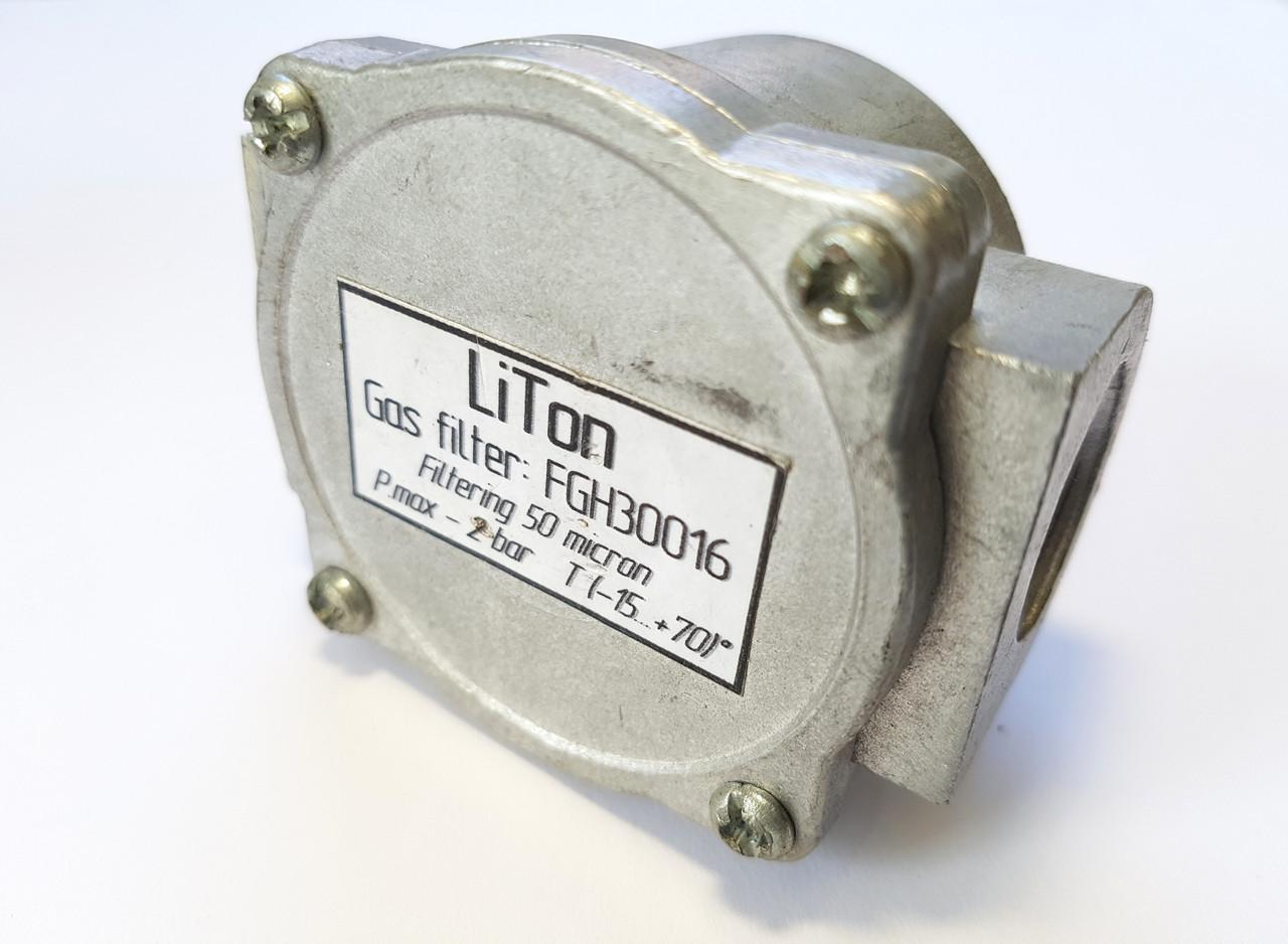 """Газовий фільтр """"таблетка"""" алюмінієвий 1/2"""