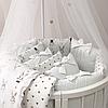 Комплект детского белья в овальную кроватку Shine Алиса белый (7 предметов), фото 6