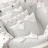 Комплект детского белья в овальную кроватку Shine Алиса белый (7 предметов), фото 7