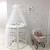 Комплект детского белья в овальную кроватку Shine Алиса белый (7 предметов), фото 8