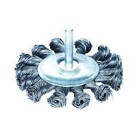 Щетка проволочная дискообразная Ø75мм хвостовик Ø6мм (стальная витая) Sigma (9023071)