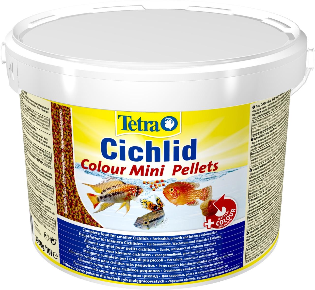 Корм для рыб  Tetra Cichlid Colour Mini 10 л/ 3,9 кг 201385