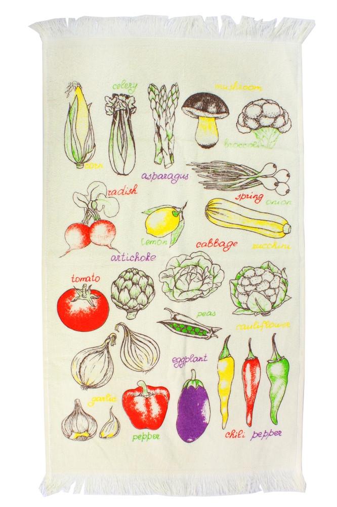 Полотенце кухонное Овощи  40x60 см. (41673)