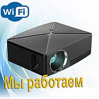 Проектор мультимедийный с Wi-Fi кинопроектор видеопроектор Wi-light C80 Проектор для дома + Anycast в подарок
