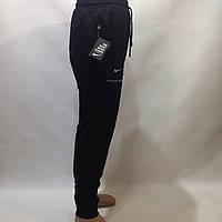 Спортивные штаны в стиле Nike с манжетом черные