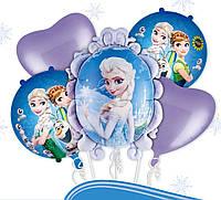 Набор из фольгированных шаров SuperKulka Холодное Сердце из 5 шаров разноцветный ab82138