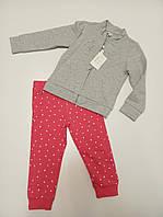 Теплый детский котоновый костюм для девочки от итальянского бренда OVS.