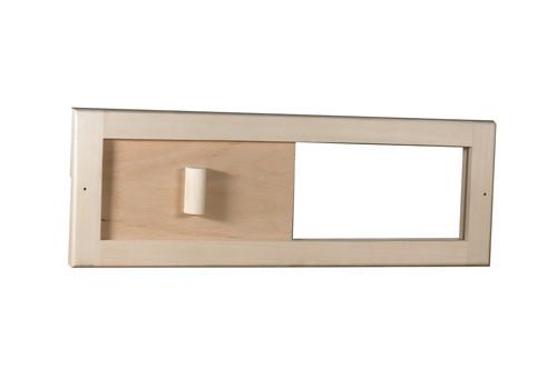 Вентиляционная заглушка-задвижка из липы для бани и сауны Tesli 365х125 мм