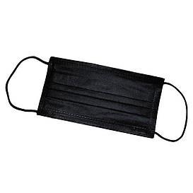 Маска защитная черная (упаковка 30 штук)