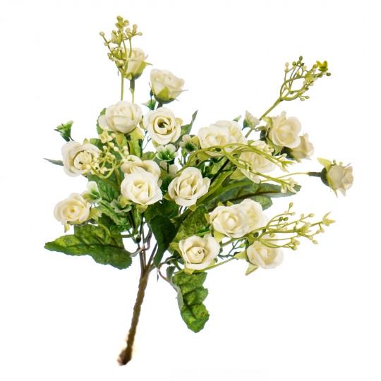 """Букет цветочный """"Мини розы"""" белые"""