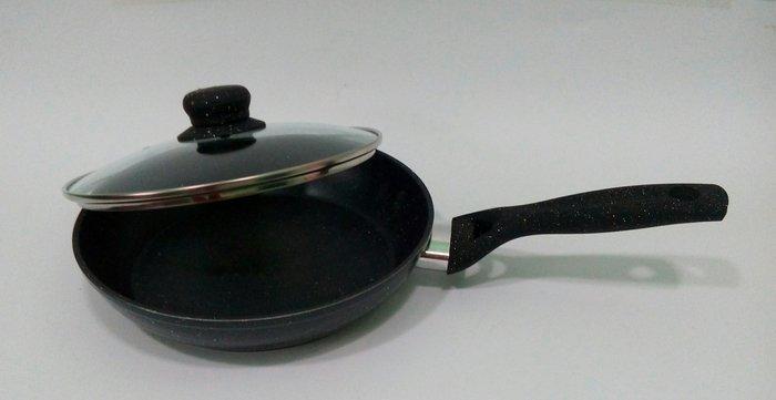 Сковороды | Сковорода глубокая гранитная с стеклянной крышкой Ø 280мм 6628