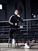 Спортивный костюм мужской Adidas Stich  xх black-white весенний осенний ЛЮКС