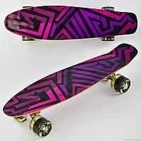 Скейт Р 5490 Best Board, доска=55см, колёса PU, СВЕТЯТСЯ, d=6см