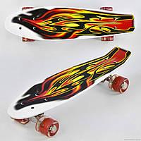 Скейт Р 4380 Best Board, доска=55см, колёса PU, СВЕТЯТСЯ, d=6см