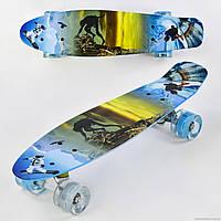 Скейт Р 3270 Best Board, доска=55см, колёса PU, СВЕТЯТСЯ, d=6см