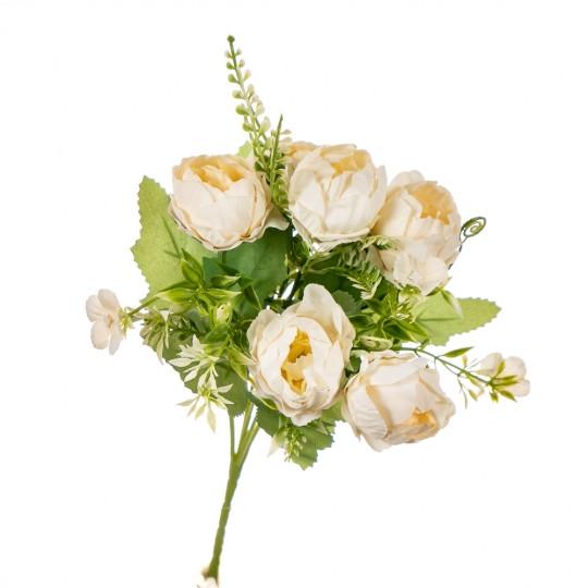 """Букет цветов """"Роза пионовидная"""" ванильная"""