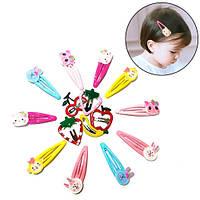 Детские заколки для волос разноцветные с милыми фигурками, 15 шт