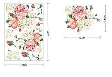 "Наклейка на стену, окна, зеркала, шкафы ""пионы розово-белые"" (лист 60*90см), фото 2"
