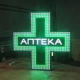 """Світлодіодний аптечний хрест 900х900 односторонній. Серія """"Chemist's"""", фото 3"""