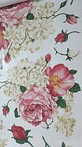 "Наклейка на стену, окна, зеркала, шкафы ""пионы розово-белые"" (лист 60*90см), фото 3"