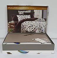 Постельное белье Maison D'or сатин с вышивкой 200х220 Pulume Volante Beige
