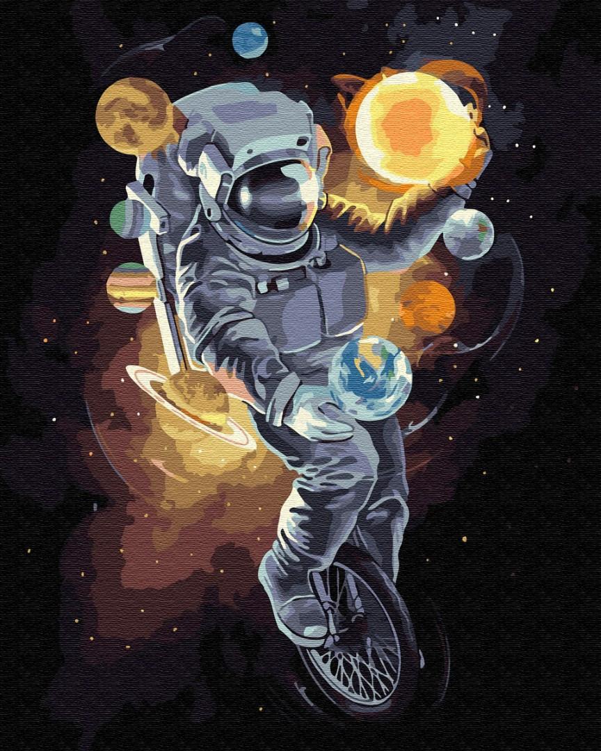 "Картина по номерам. Brushme ""Космический жонглер"" GX34813"