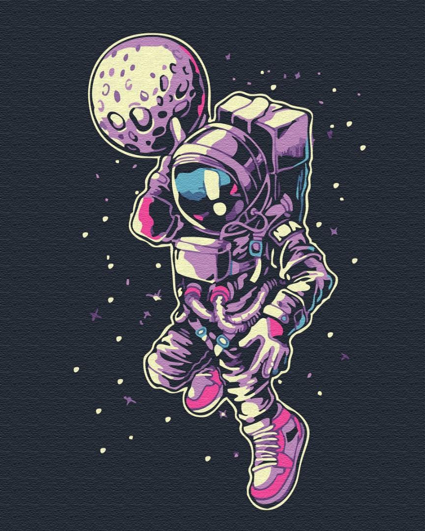 """Картина по номерам. Brushme """"Космический арт"""" GX34807"""