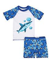 Солнцезащитный купальный костюм для мальчика Акула, фото 1