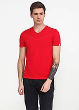 Футболка чоловіча червона однотонна MSY, M,XL