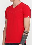 Футболка мужская красная однотонная MSY, M,XL, фото 3