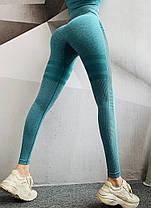 """Жіночий спортивний костюм для фітнесу лосини + топ """"Зелений"""", фото 3"""