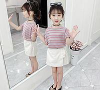 Літній костюм для дівчинки, футболка та шорти для дівчинки / Костюм для девочки летний, из двух частей 140