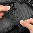 Портативное бескаркасное детское автокресло (серое с черным), фото 6
