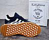 Кроссовки мужские Adidas Iniki Runner Boost замш и сетка адидас иники ранер синие - Фото