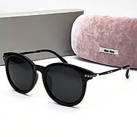 Солнцезащитные очки в стиле Miu Miu (2173) black, фото 1